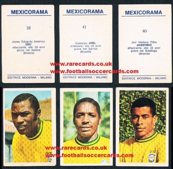 1970 triple, 3 Brazil cards 1 price